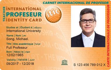 professor card