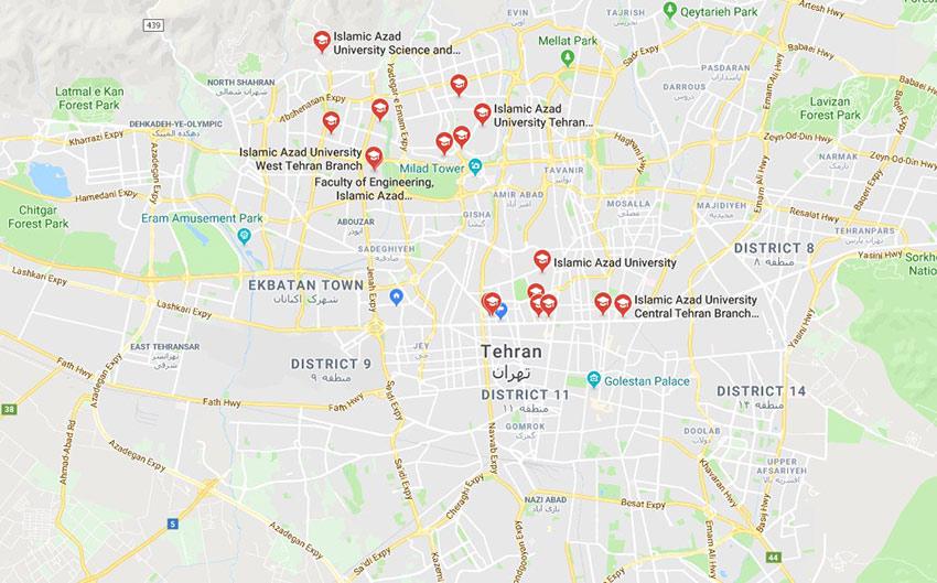 واحدهای تهران دانشگاه آزاد