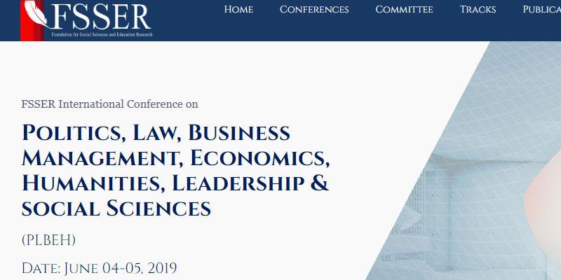 همایش بین المللی سیاست ها، حقوق، مدیریت کسب و کار، اقتصاد، علوم انسانی، رهبری و علوم اجتماعی