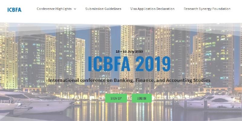 کنفرانس بین المللی بانکداری، مالی و حسابداری