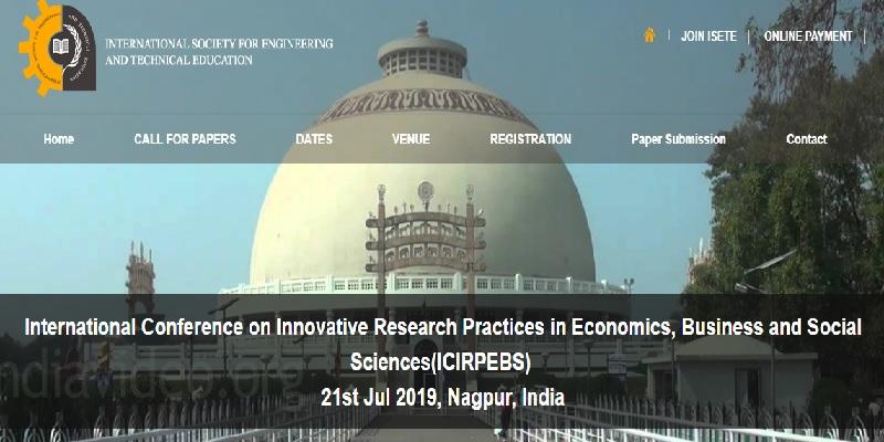کنفرانس بینالمللی جدیدترین اقدامات در اقتصاد، تجارت و علوم اجتماعی (ICIRPEBS)