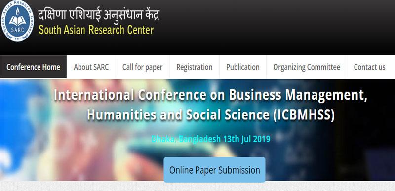 کنفرانس بین المللی مدیریت بازرگانی، علوم انسانی و علوم اجتماعی در داکا