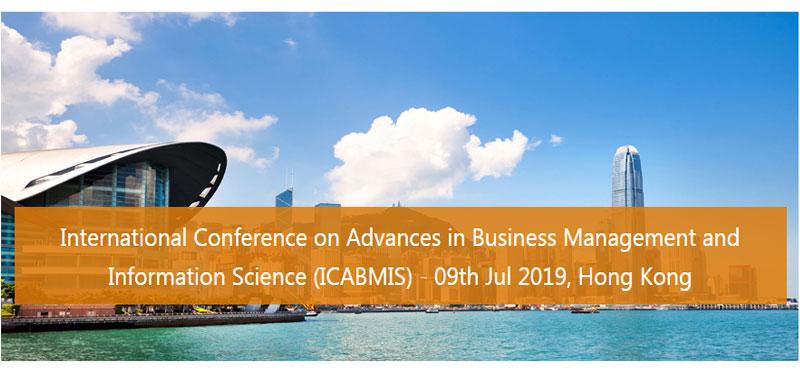 کنفرانس بین الملللی جدیدترین پیشرفت ها در زمینه مدیریت بازرگانی در هنگ کنگ