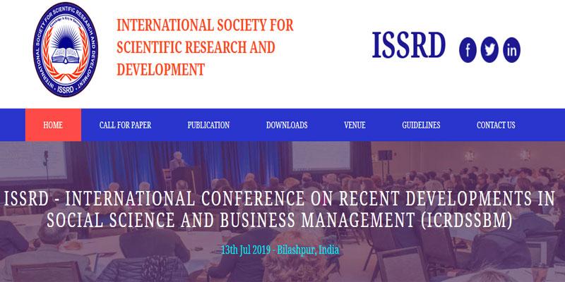 کنفرانس بین المللی پیشرفت های اخیر در علوم اجتماعی و مدیریت کسب و کار در هند
