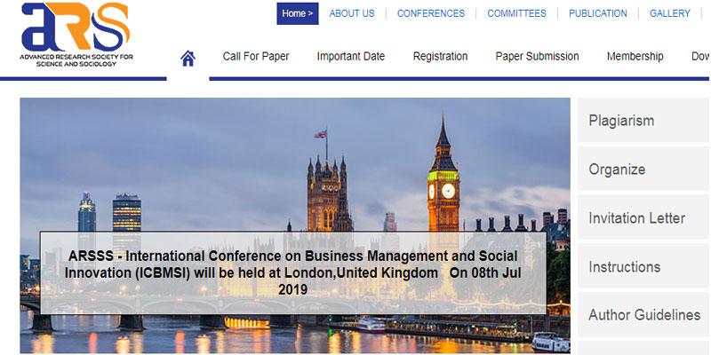 کنفرانس بین المللی مدیریت کسب و کار در لندن