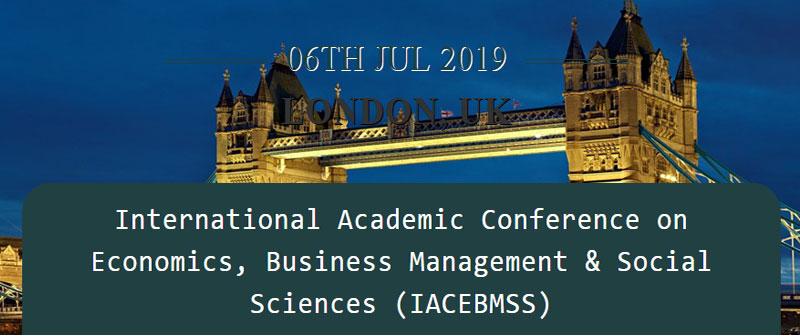 کنفرانس علمی بین المللی اقتصاد، مدیریت بازرگانی و علوم اجتماعی در لندن