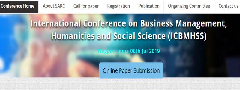 کنفرانس بین المللی مدیریت بازرگانی، علوم انسانی و علوم اجتماعی در هند