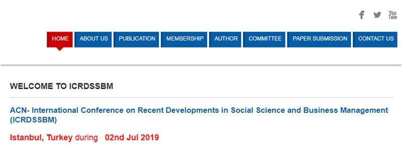 کنفرانس بین المللی جدیدترین پیشرفت ها در زمینه علوم اجتماعی