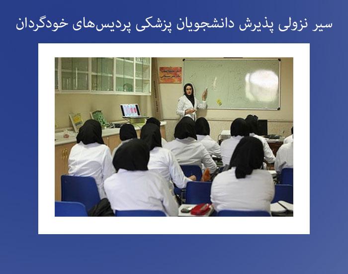 سیر نزولی پذیرش دانشجویان پزشکی پردیسهای خودگردان